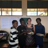 Sarah Birthdy Cake serving